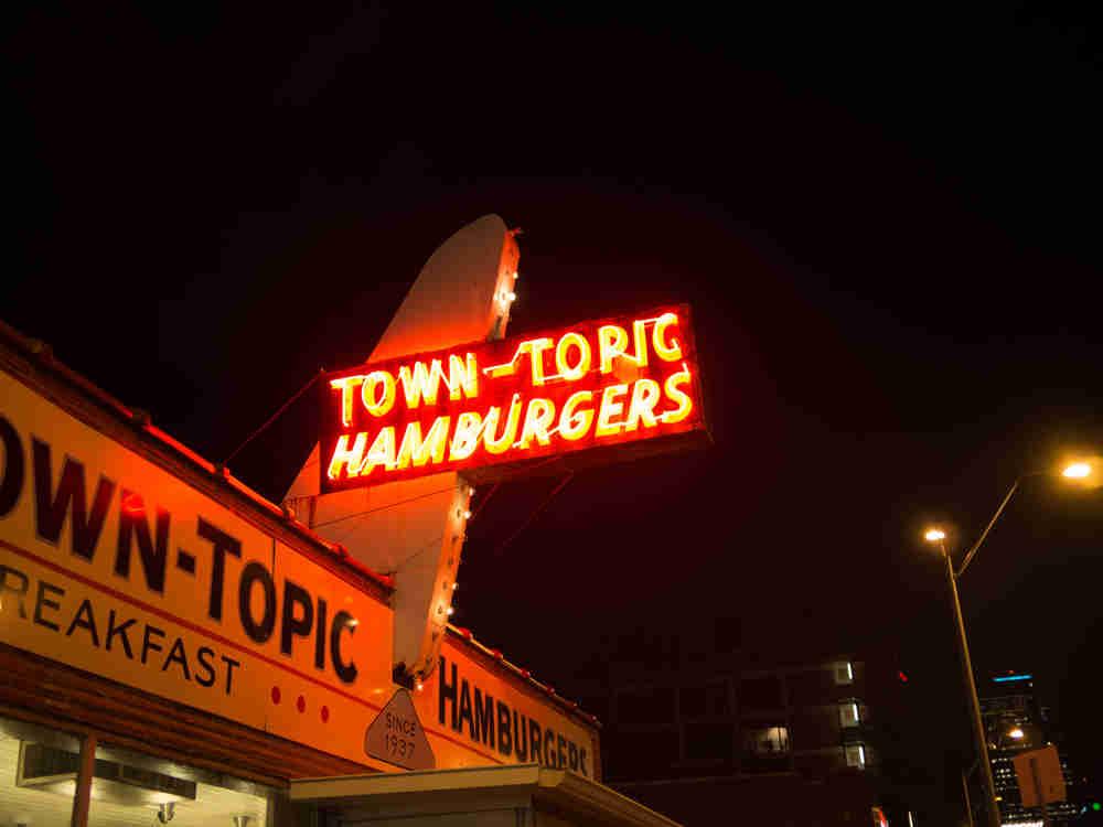 Town-Topic Hamburgers Sign