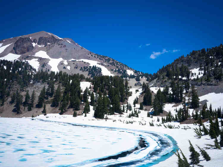 Lassen Peak in July