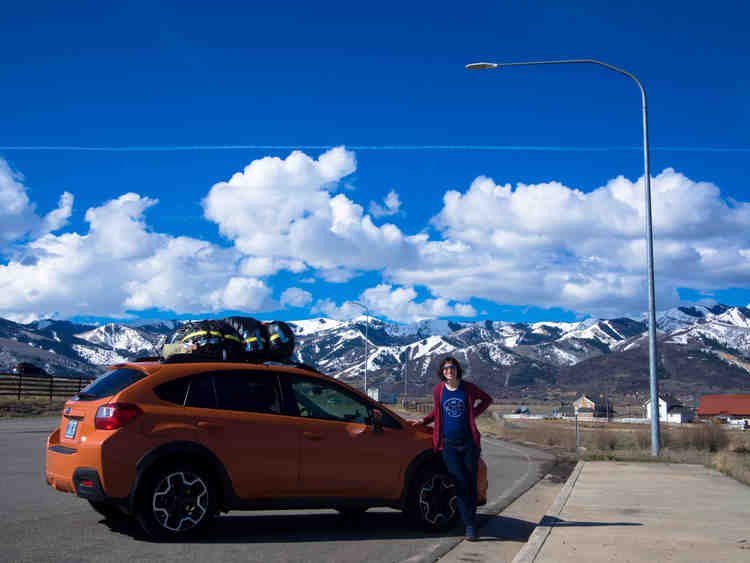 Orange Subaru XV Crosstrek - Park City, Utah