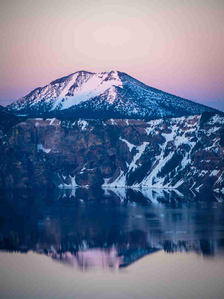 Mt. Scott sunset at Crater Lake National Park