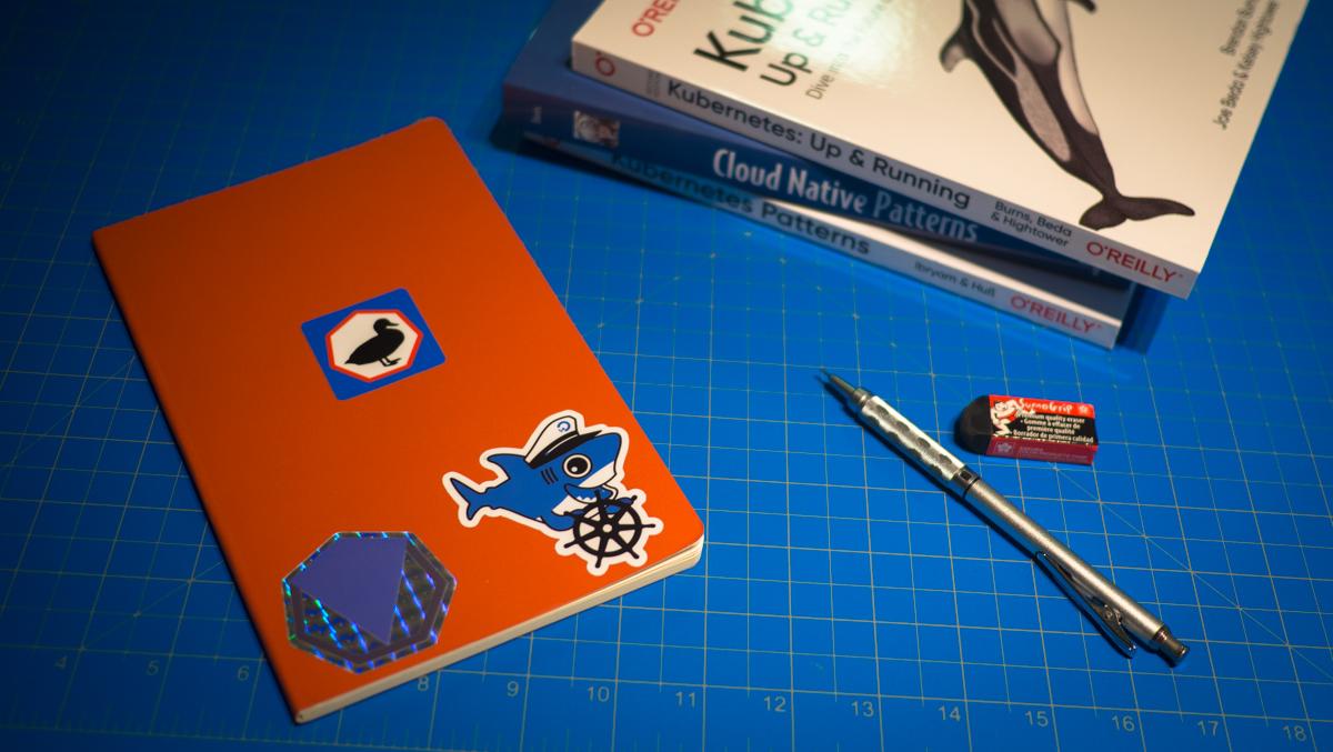 Orange notebook and associated Kubernetes books