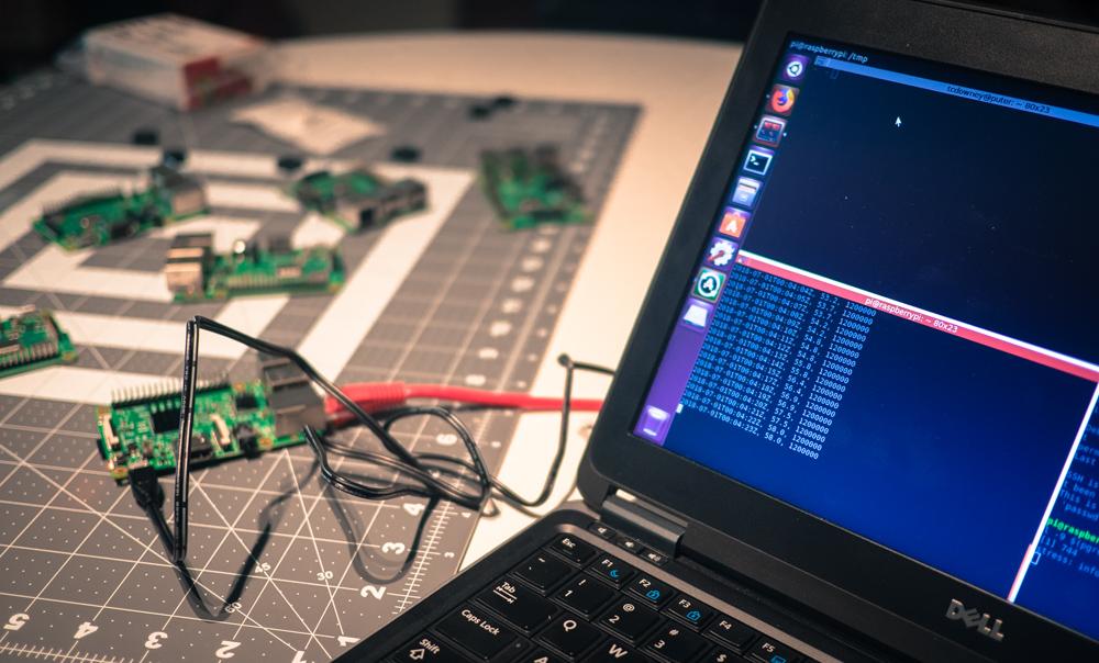 Raspberry Pi 3 thermal experiment setup